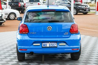 2015 Volkswagen Polo 6R MY15 81TSI DSG Comfortline Blue 7 Speed Sports Automatic Dual Clutch