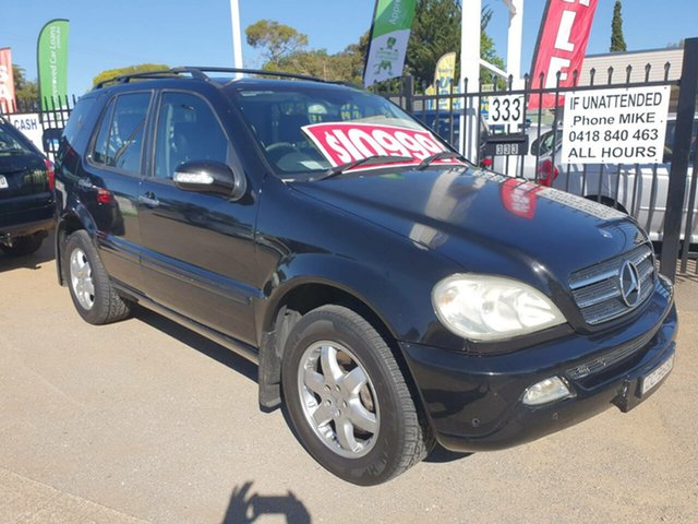 Used Mercedes-Benz M-Class W163 MY04 ML500 Luxury Morphett Vale, 2004 Mercedes-Benz M-Class W163 MY04 ML500 Luxury Black 5 Speed Sports Automatic Wagon