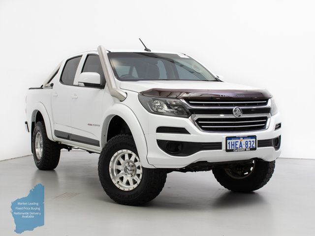 Used Holden Colorado RG MY17 LS (4x4), 2017 Holden Colorado RG MY17 LS (4x4) White 6 Speed Manual Crew Cab Pickup