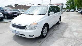 2011 Kia Carnival VQ MY11 S White 4 Speed Sports Automatic Wagon.