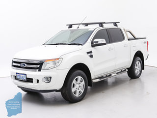 2015 Ford Ranger PX XLT 3.2 (4x4) White 6 Speed Manual Double Cab Pick Up.