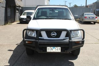 2010 Nissan Navara D40 RX (4x4) White 6 Speed Manual Cab Chassis.