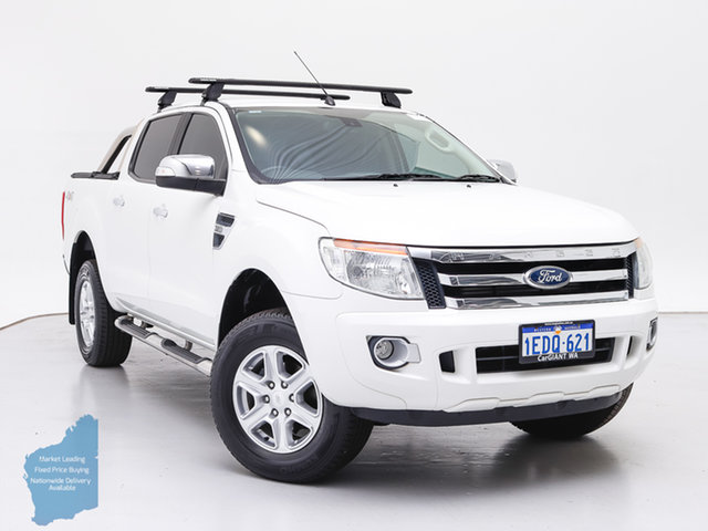 Used Ford Ranger PX XLT 3.2 (4x4), 2015 Ford Ranger PX XLT 3.2 (4x4) White 6 Speed Manual Double Cab Pick Up