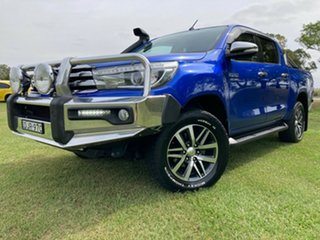 2015 Toyota Hilux GUN126R SR5 Double Cab Nebula Blue 6 Speed Sports Automatic Utility.