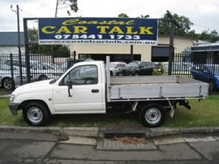 2003 Toyota Hilux RZN149R Workmate White 5 Speed Manual Cab Chassis.