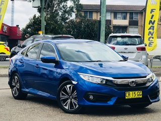 2018 Honda Civic 10th Gen MY18 VTi-L Blue 1 Speed Constant Variable Hatchback.
