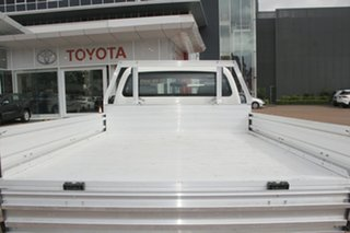 2013 Toyota Hilux TGN16R MY12 Workmate 4x2 White 5 Speed Manual Cab Chassis