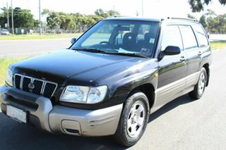2000 Subaru Forester 79V MY01 GX AWD Black 5 Speed Manual Wagon.