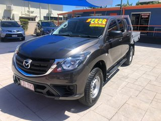 2018 Mazda BT-50 UR0YG1 XT 4x2 Hi-Rider Bronze 6 Speed Manual Cab Chassis.