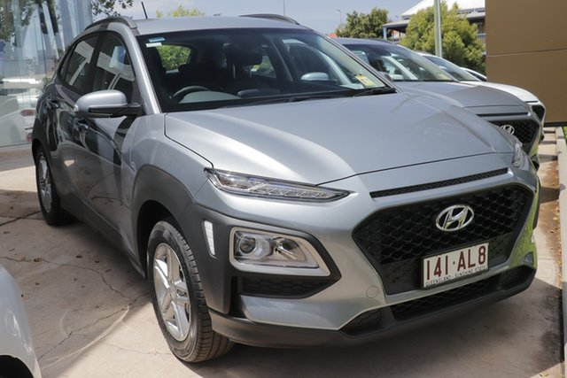Demo Hyundai Kona OS.3 MY20 Active 2WD Toowoomba, 2020 Hyundai Kona OS.3 MY20 Active 2WD Lake Silver 6 Speed Sports Automatic Wagon