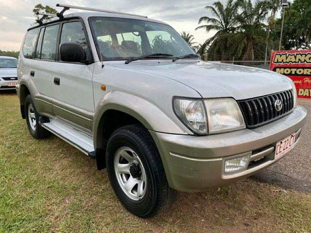 Used Toyota Landcruiser Prado VZJ95R GXL Pinelands, 2002 Toyota Landcruiser Prado VZJ95R GXL White 4 Speed Automatic Wagon
