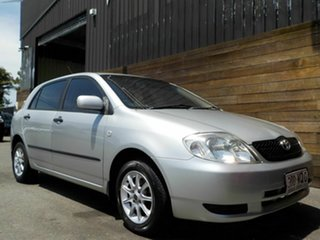 2002 Toyota Corolla ZZE122R Ascent Silver 5 Speed Manual Hatchback.