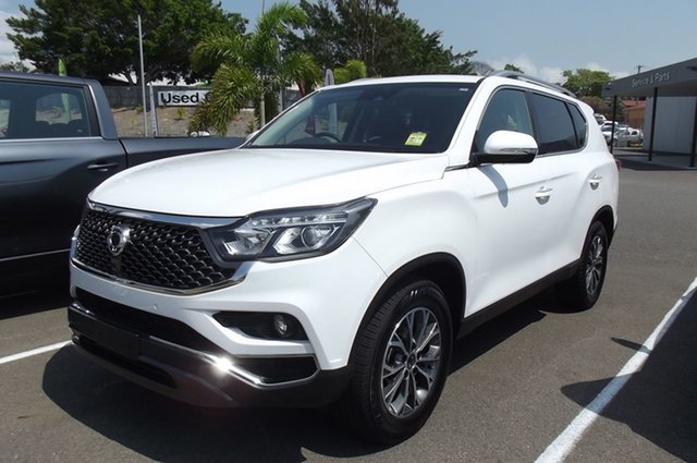New Ssangyong Rexton Y400 MY20 ELX South Gladstone, 2020 Ssangyong Rexton Y400 MY20 ELX White 7 Speed Sports Automatic Wagon