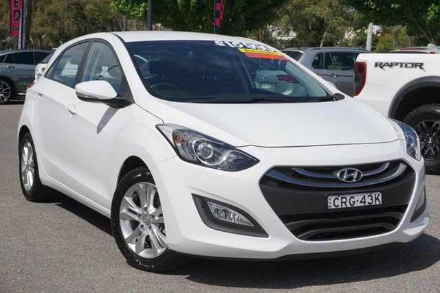 Used Hyundai i30 GD2 MY14 Trophy Phillip, 2013 Hyundai i30 GD2 MY14 Trophy White 6 Speed Sports Automatic Hatchback
