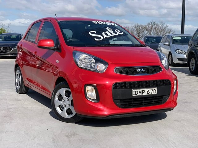 Used Kia Picanto TA MY17 SI Liverpool, 2016 Kia Picanto TA MY17 SI Red 4 Speed Automatic Hatchback