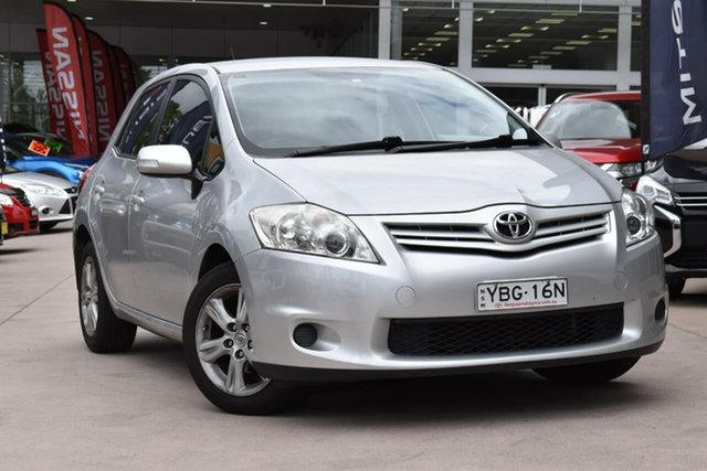 Used Toyota Corolla ZRE152R MY11 Ascent Sport Blacktown, 2012 Toyota Corolla ZRE152R MY11 Ascent Sport Silver 4 Speed Automatic Hatchback