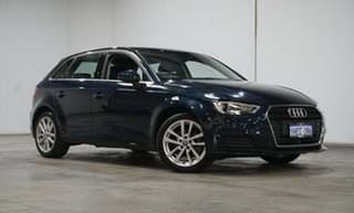 2017 Audi A3 8V MY18 Sportback S Tronic Cosmos Blue 7 Speed Sports Automatic Dual Clutch Hatchback