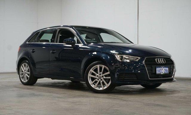 Used Audi A3 8V MY18 Sportback S Tronic Welshpool, 2017 Audi A3 8V MY18 Sportback S Tronic Cosmos Blue 7 Speed Sports Automatic Dual Clutch Hatchback