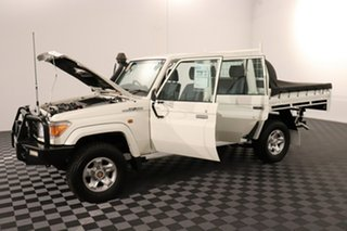 2016 Toyota Landcruiser VDJ79R GXL Double Cab French Vanilla 5 speed Manual Cab Chassis