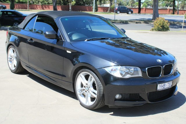 Used BMW 120i E88 MY11 West Footscray, 2011 BMW 120i E88 MY11 Black 6 Speed Automatic Convertible