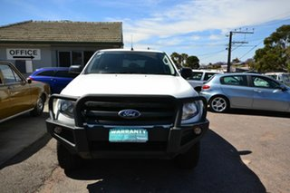 2015 Ford Ranger PX XL 2.2 Hi-Rider (4x2) White 6 Speed Automatic Crew Cab Pickup.
