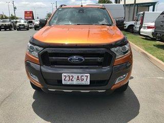 2017 Ford Ranger PX MkII Wildtrak Double Cab Pride Orange 6 speed Automatic Utility.