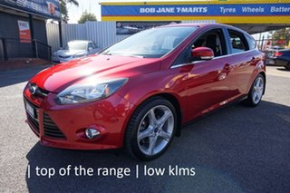 2011 Ford Focus LW Titanium PwrShift Candy Red 6 Speed Sports Automatic Dual Clutch Hatchback.