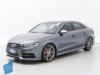 2016 Audi S3 8V MY17 2.0 TFSI S Tronic Quattro Grey 7 Speed Auto S-Tronic Sedan