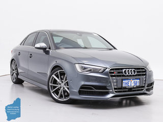 2016 Audi S3 8V MY17 2.0 TFSI S Tronic Quattro Grey 7 Speed Auto S-Tronic Sedan.