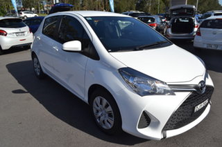 2016 Toyota Yaris NCP130R Ascent White 4 Speed Automatic Hatchback