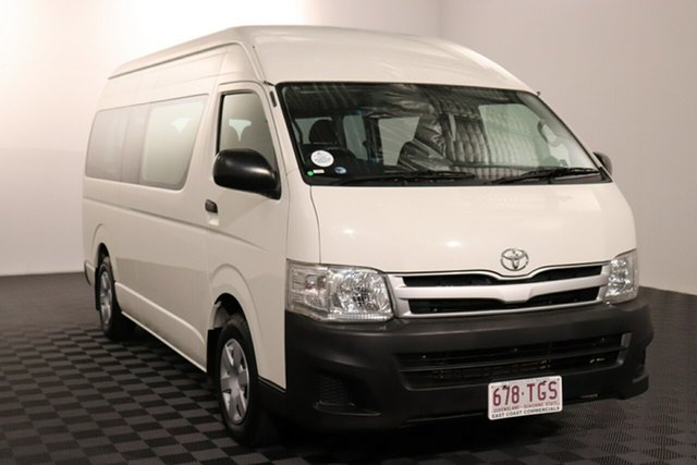Used Toyota HiAce TRH223R MY11 Commuter High Roof Super LWB Acacia Ridge, 2010 Toyota HiAce TRH223R MY11 Commuter High Roof Super LWB White 4 speed Automatic Bus