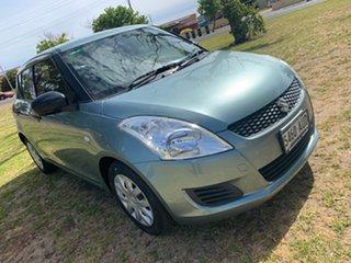 2012 Suzuki Swift FZ GA Green 5 Speed Manual Hatchback.