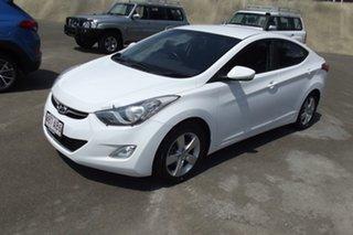 2012 Hyundai Elantra MD2 Elite White 6 Speed Sports Automatic Sedan.