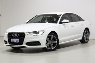 2013 Audi A6 4GL MY13 2.0 TDI White 7 Speed CVT Multitronic Sedan.