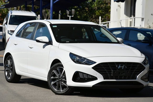 New Hyundai i30 PD.V4 MY21 Elite Cheltenham, 2020 Hyundai i30 PD.V4 MY21 Elite Polar White 6 Speed Sports Automatic Hatchback