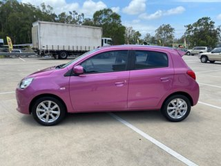 2013 Mitsubishi Mirage LA LS Purple 5 Speed Manual Hatchback