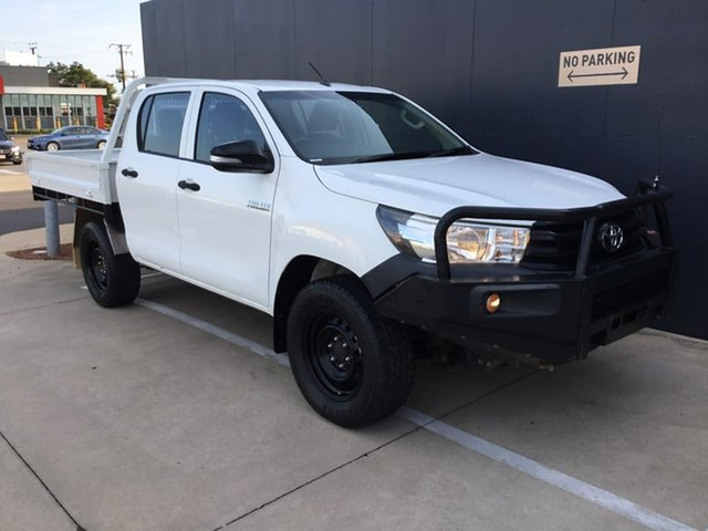 Used Toyota Hilux GUN125R Workmate Double Cab Stuart Park, 2016 Toyota Hilux GUN125R Workmate Double Cab White 6 Speed Sports Automatic Utility