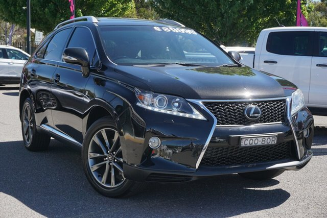 Used Lexus RX GGL15R MY12 RX350 F Sport Phillip, 2013 Lexus RX GGL15R MY12 RX350 F Sport Black 6 Speed Sports Automatic Wagon