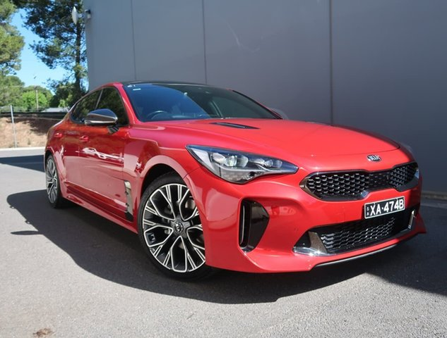 Used Kia Stinger CK MY18 GT-Line Fastback Reynella, 2017 Kia Stinger CK MY18 GT-Line Fastback Red 8 Speed Sports Automatic Sedan