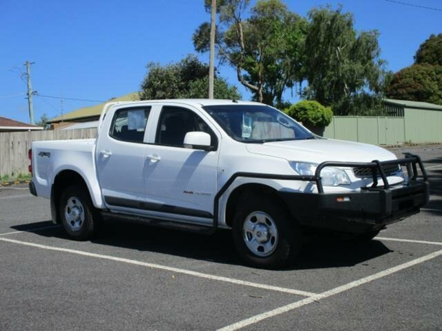 Used Holden Colorado RG LS Timboon, 2015 Holden Colorado RG LS White Manual CREWCAB UTILITY