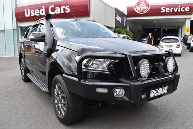 Used Ford Ranger PX MkII FX4 Double Cab Gosford, 2017 Ford Ranger PX MkII FX4 Double Cab Black 6 Speed Manual Utility