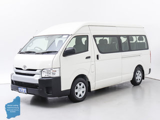 2016 Toyota HiAce KDH223R MY15 Commuter White 5 Speed Manual Bus.