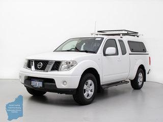 2014 Nissan Navara D40 MY12 ST (4x4) White 6 Speed Manual Dual Cab Pick-up.