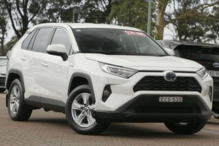 2019 Toyota RAV4 Axah52R GX 2WD White/cert 6 Speed Constant Variable SUV Hybrid.