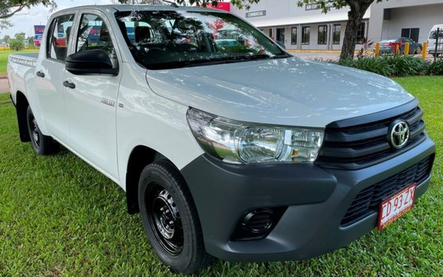 Used Toyota Hilux GUN122R Workmate Double Cab 4x2 Winnellie, 2016 Toyota Hilux GUN122R Workmate Double Cab 4x2 White 5 Speed Manual Utility
