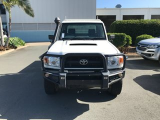 2015 Toyota Landcruiser VDJ79R GX French Vanilla 5 speed Manual Cab Chassis.