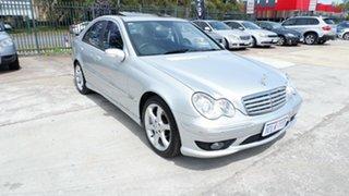 2007 Mercedes-Benz C-Class W203 MY07 C180 Kompressor Super Sport Silver 5 Speed Automatic Sedan.