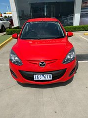 2012 Mazda 2 DE10Y2 MY12 Neo Red 5 Speed Manual Hatchback.