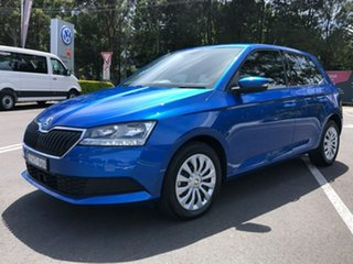 2020 Skoda Fabia NJ MY20.5 81TSI DSG Blue 7 Speed Sports Automatic Dual Clutch Hatchback