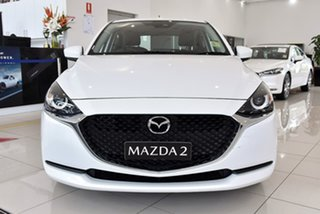 2020 Mazda 2 DJ2HA6 G15 SKYACTIV-MT Pure White 6 Speed Manual Hatchback.